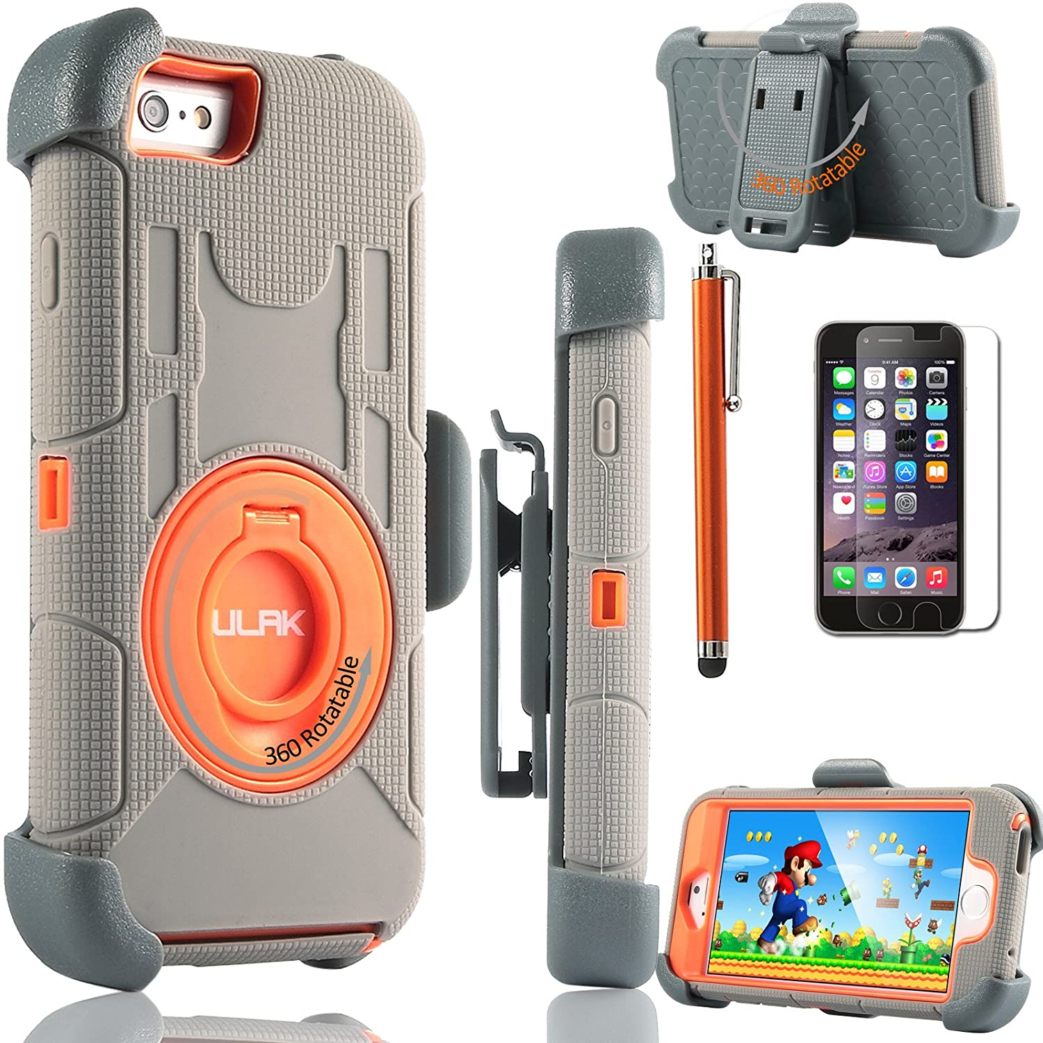 Top 10 Best Iphone 6s Plus Heavy Duty Armor Case Covers 2018 2020 Uag Slate 6 Holster 47 Inchulak Rugged Shockproof Protective With Built In Rotating