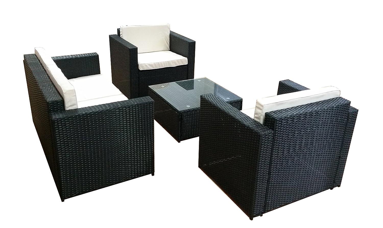 POLY RATTAN Lounge GM9 Braun Sofa Garnitur Polyrattan Sitzgruppe Gartenmöbel