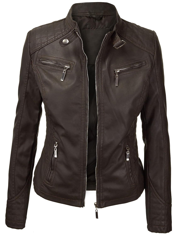 Lock and Love Women's Quilted Biker Jacket at Amazon Women's Coats Shop