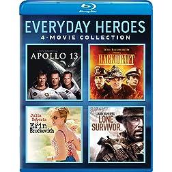 Everyday Heroes 4-Movie Collection (Apollo 13 / Backdraft / Erin Brockovich / Lone Survivor) [Blu-ray]