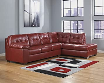 Alliston DuraBlend RAF Corner Chaise Sectional in Salsa