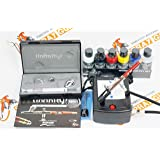Compressor with airbrush set Badger Breeze 80-3N + Harder & Steenbeck Infinity CR Plus 2in1 + Createx Wicked Colors paints set. by SprayGunner