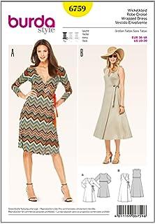 dddb39b6e8d Burda Schnittmuster Kleid 6829  Amazon.de  Küche   Haushalt