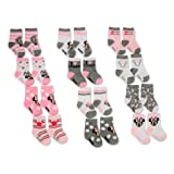 Disney Baby Girls Minnie Mouse Assorted Color Socks Set, 12 Pair,pink, white,0-6M (Color: Pink, White, Tamaño: 0 - 6 Months)