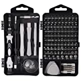 Justech Precision Screwdriver Set Professional Electronics Repair Tool Kit for Repairing PC MacBook Pad Laptop Watch Glasses Smartphone (Grey 121 Kits) (Tamaño: Grey 121 Kits)