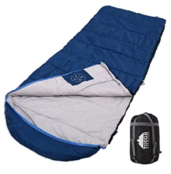 Tough Outdoors All Season XL Hooded Sleeping Bag With Compression Sack