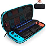 Hestia Goods Nintendo Switch Hard Carry Case with 20 Game Cartridges - Protective Hard Shell Travel Carrying Case Pouch for Nintendo Switch Console & Accessories - Teal (Color: Teal)