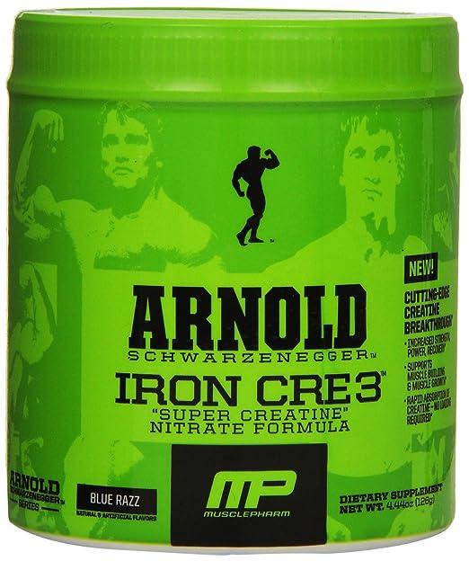 Arnold Schwarzenegger Series /Musclepharm Iron CRE3 - Kreatin - Blue Raspberry - 126g, 1er Pack (1 x 126 g)
