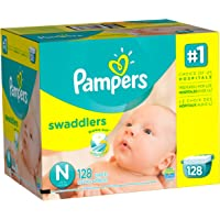 Pampers Swaddlers 128 Count Size N Diapers