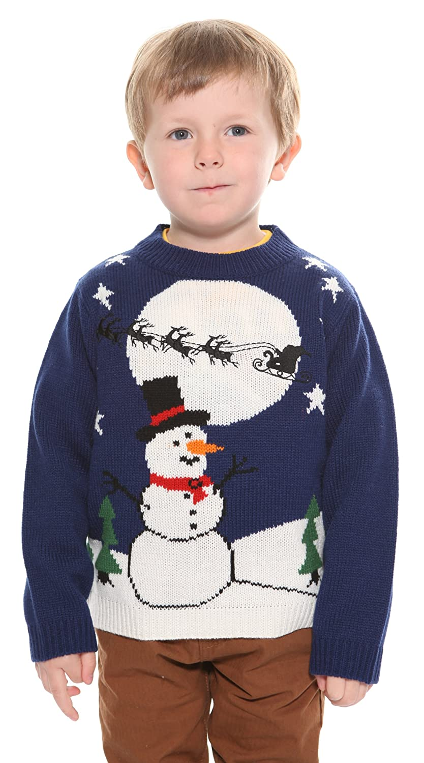 Kid's Snowman Sleigh Jumper (ages 3 to 6)