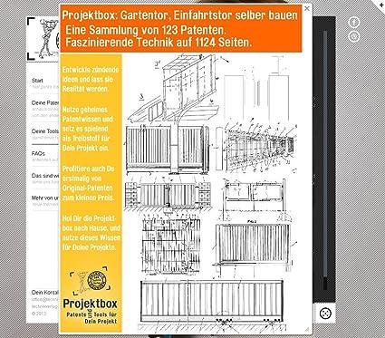 gartentor einfahrtstor selber bauen deine projektbox inkl 123. Black Bedroom Furniture Sets. Home Design Ideas