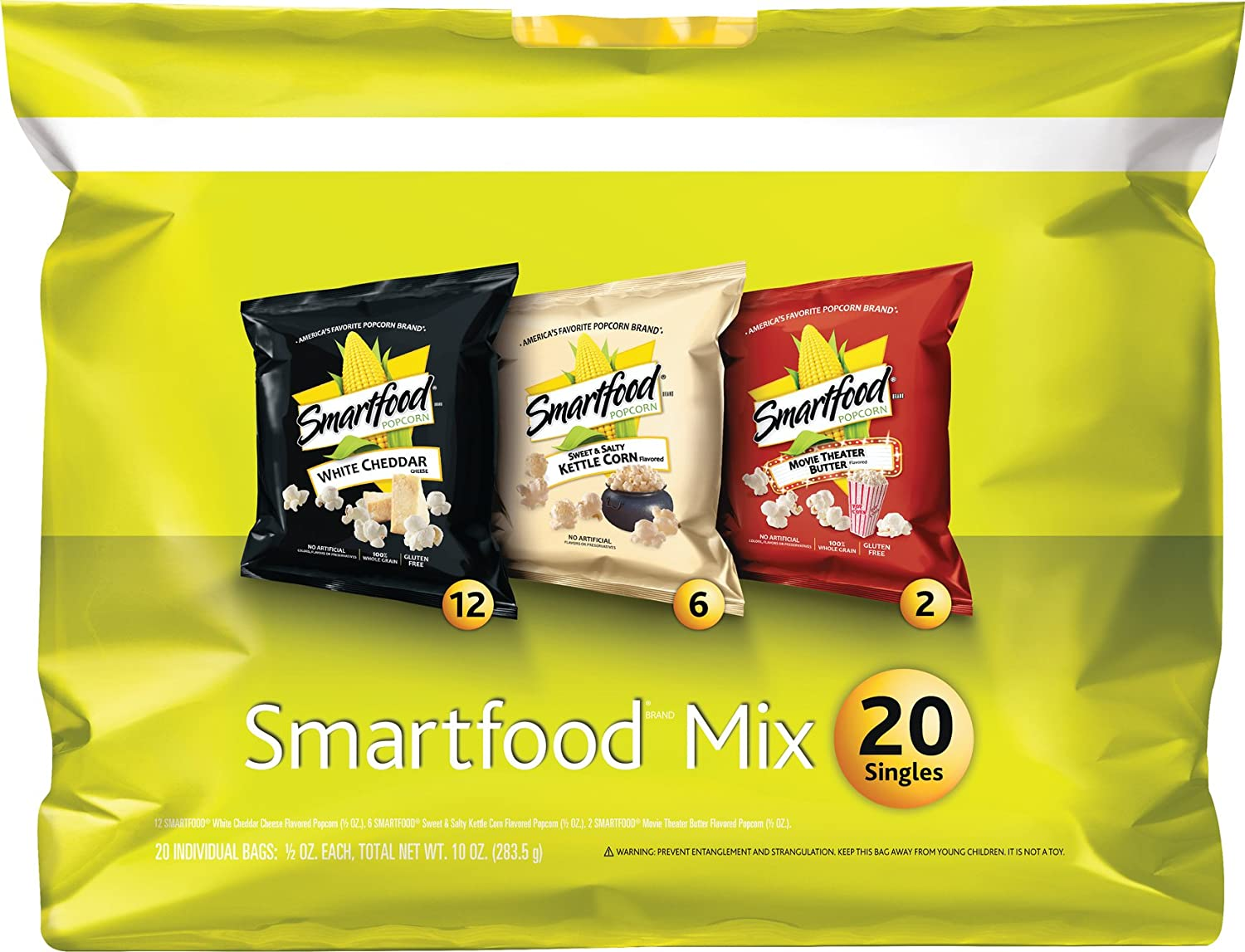 Smartfood Popcorn Variety Pack, 10 Ounce
