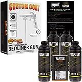 U-POL Raptor Tintable Urethane Spray-On Truck Bed Liner Kit w/FREE Custom Coat Spray Gun with Regulator, 4 Liters (Color: Tintable, Tamaño: 4-Liters)