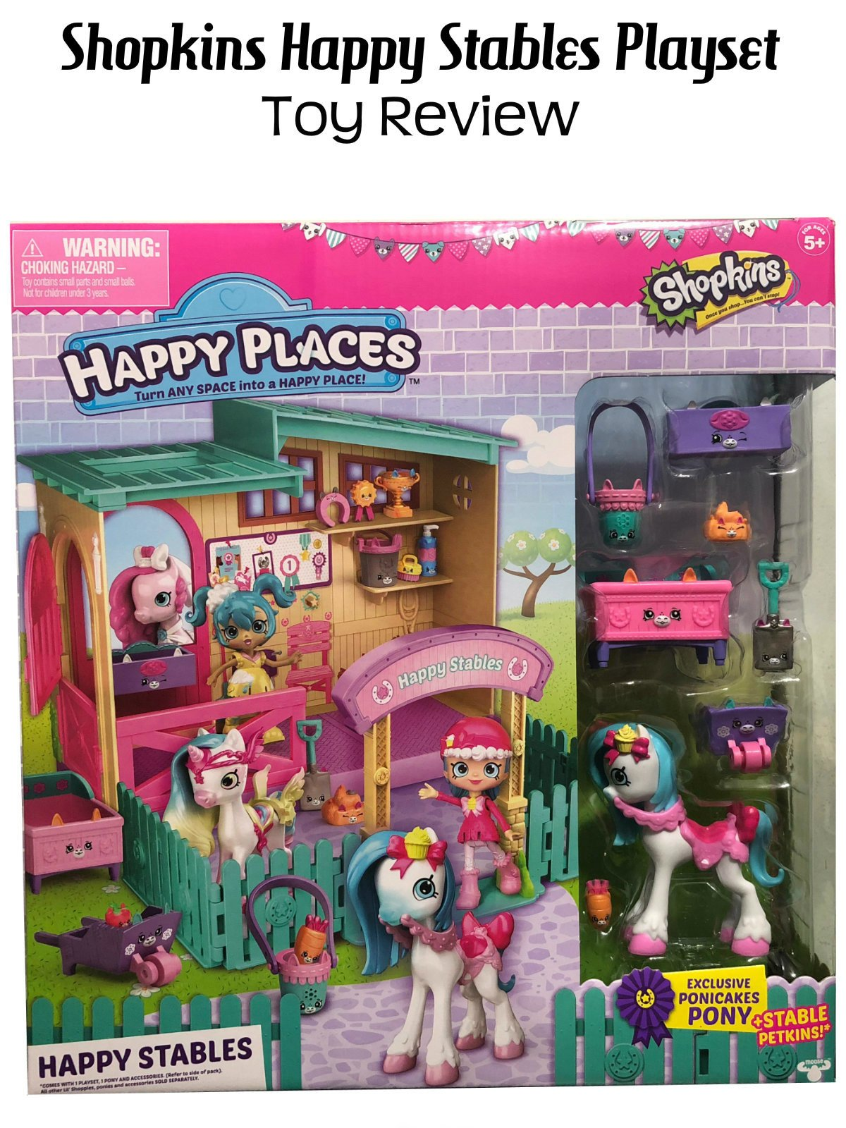 Review: Shopkins Happy Stables Playset Toy Review