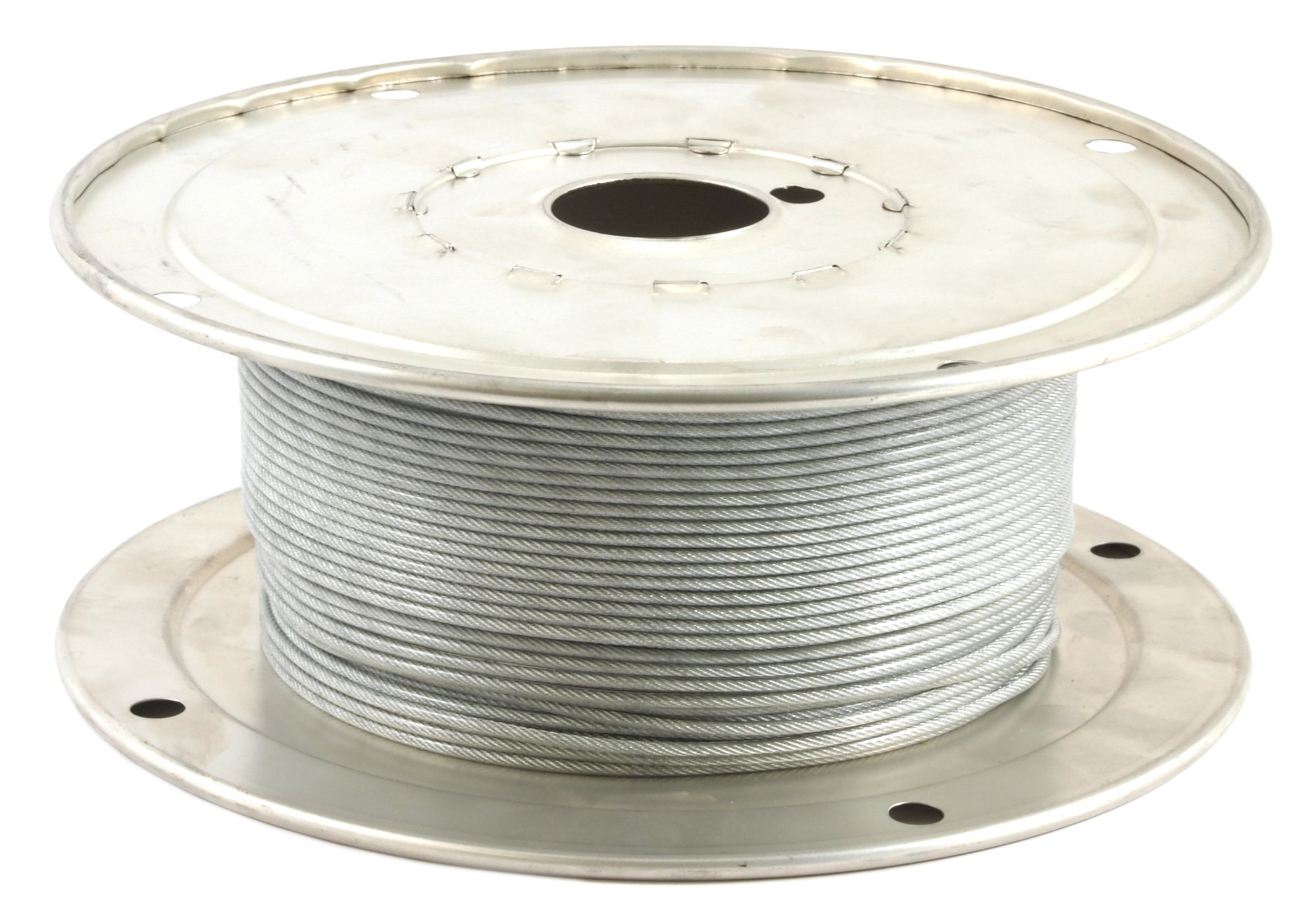 Forney 70450 Wire Rope Vinyl Coated Aircraft Cable 500