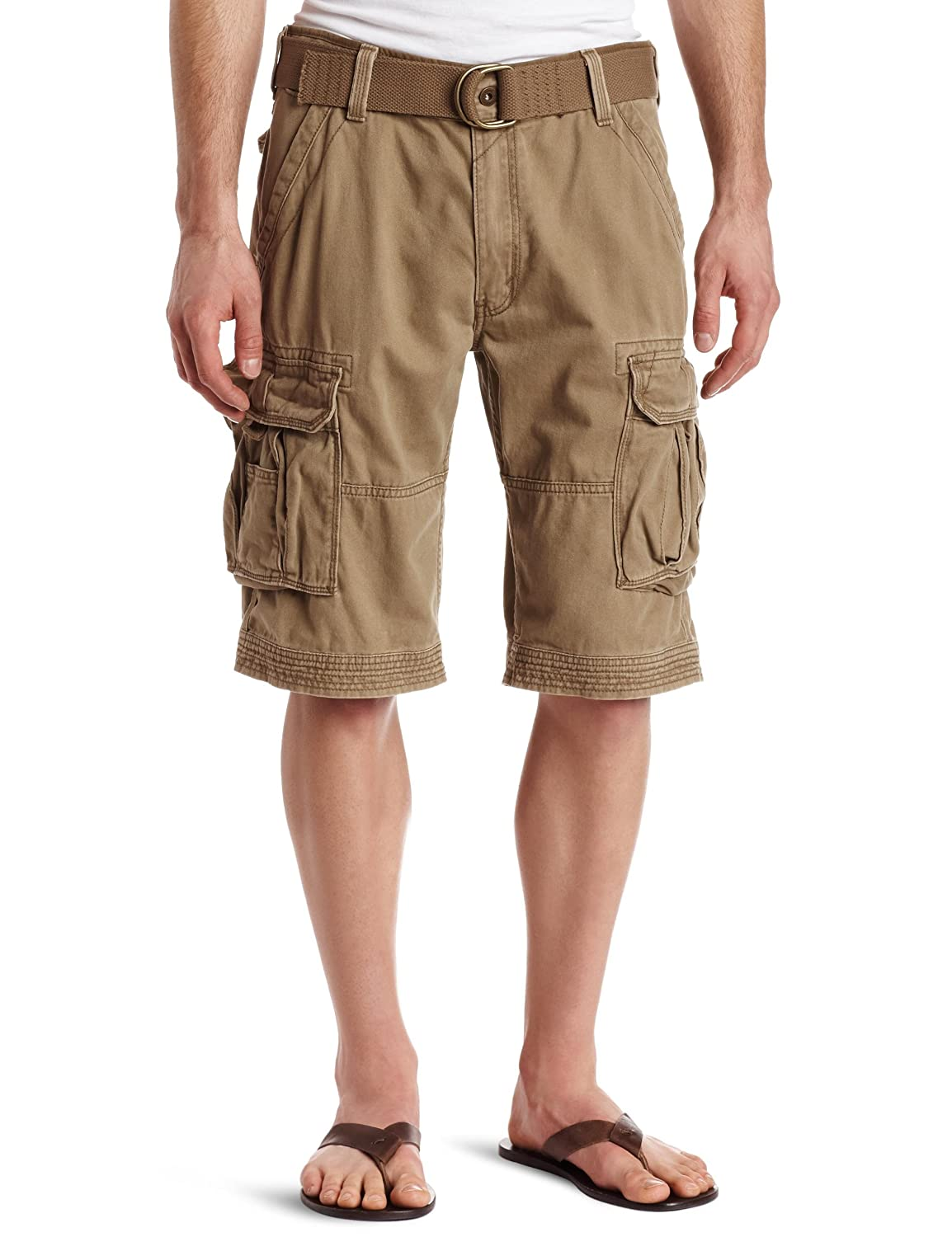 Levi's Mens Belted Spike Cargo Short, Cougar, 34