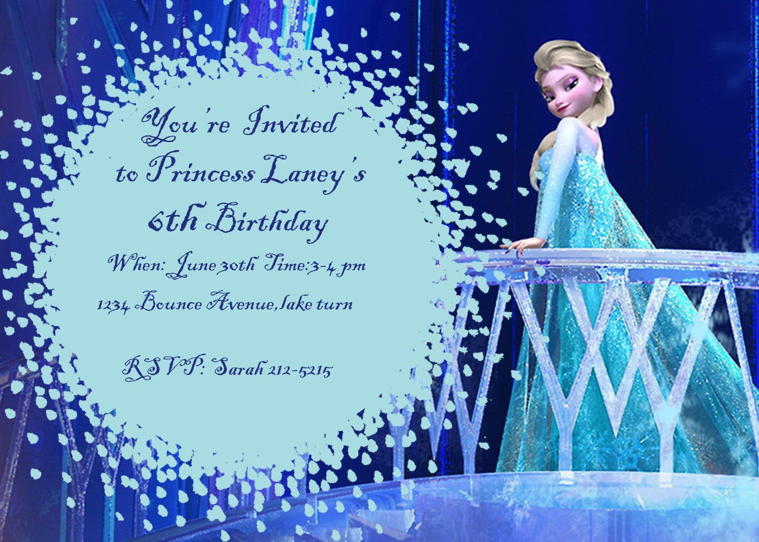 Frozen Party Invitations and Thank Yous | Birthday Girls Wikii