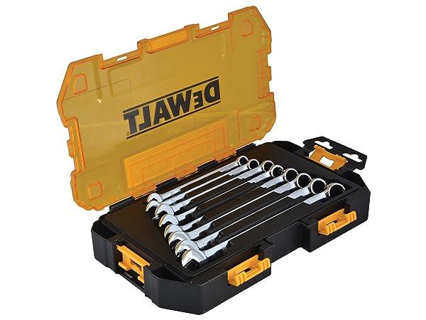 DEWALT Combination Wrench Set, Metric, 8 Pieces (DWMT73810)