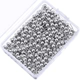 500 Pack Map Push Pins Map Tacks Small Size (Silver, 1/8 Inch) (Color: Silver, Tamaño: 1/ 8 Inch)