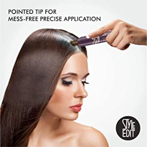 Style Edit Root Cover Up Stick - Instant Root Concealer to Touch up And Cover Roots and Grays (Medium Brown) (Color: MEDIUM BROWN, Tamaño: 1 Pack)