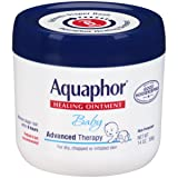 Aquaphor Baby Advanced Therapy Healing Ointment Skin Protectant 14 Ounce Jar (Tamaño: ..( 1 Pack ).. (14 Ounce Jar))