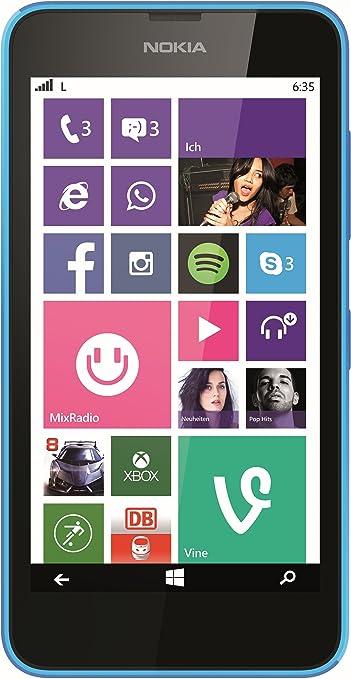 Nokia Lumia 635 LTE /4G 1Go / GB cyan Windows Phone 8.1 Smartphone