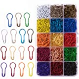 750 Pieces 15 Colors Assorted Bulb Safety Pins Pear Shaped Pins Calabash Pin Knitting Stitch Markers Sewing Making with Storage Box (Color: 750 Pcs)