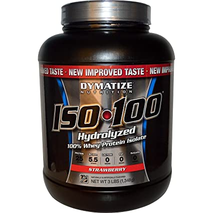 Dymatize ISO 100, Strawberry, 1er Pack (1 x 1.348 g)