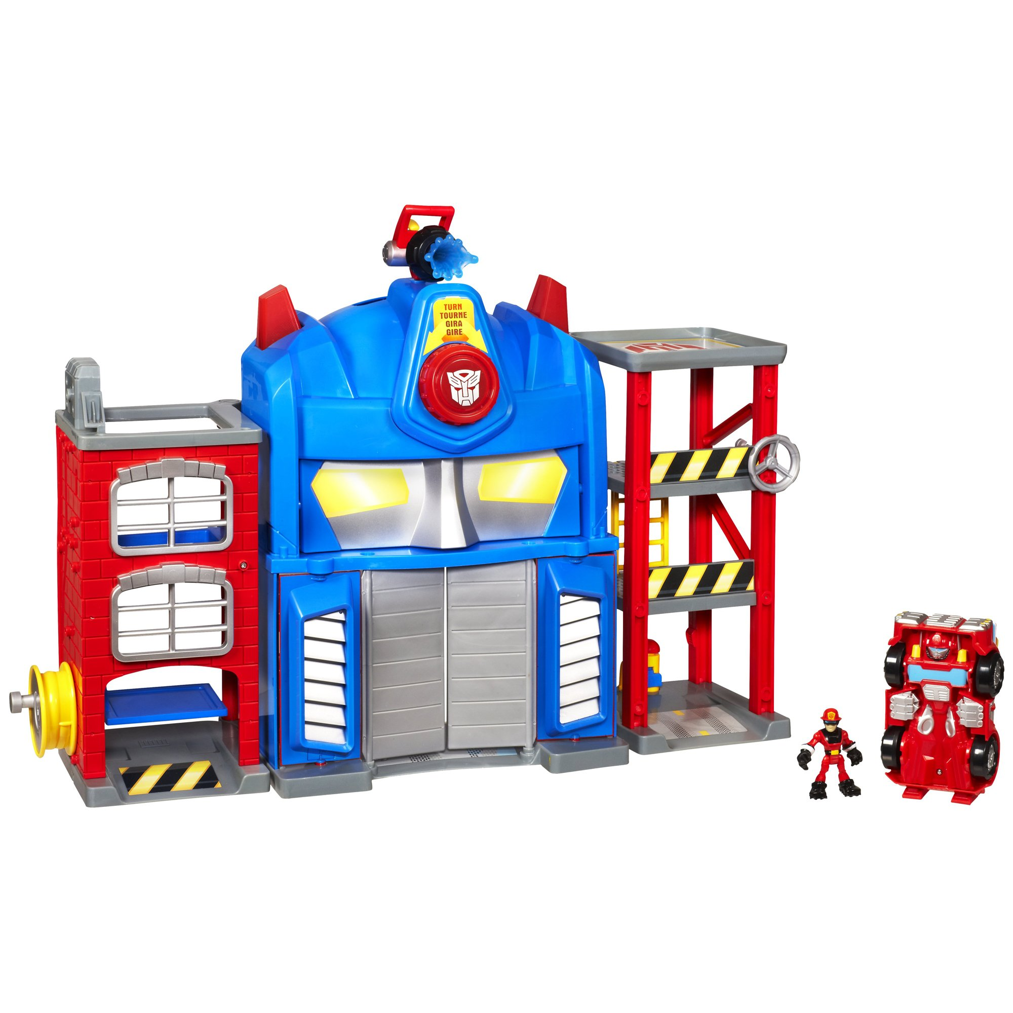 Dinosaurs Mdf Toy Box Childrens Storage Toys Games Books: Transformers Rescue Bots Playskool Heroes Fire Station