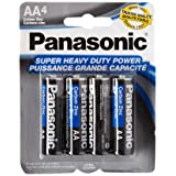 Panasonic 5734 16PC AA Batteries Super Heavy Duty Power Carbon Zinc Double A Battery 1.5V, Black (Pack of 16) (Color: Black, Tamaño: 0.02)
