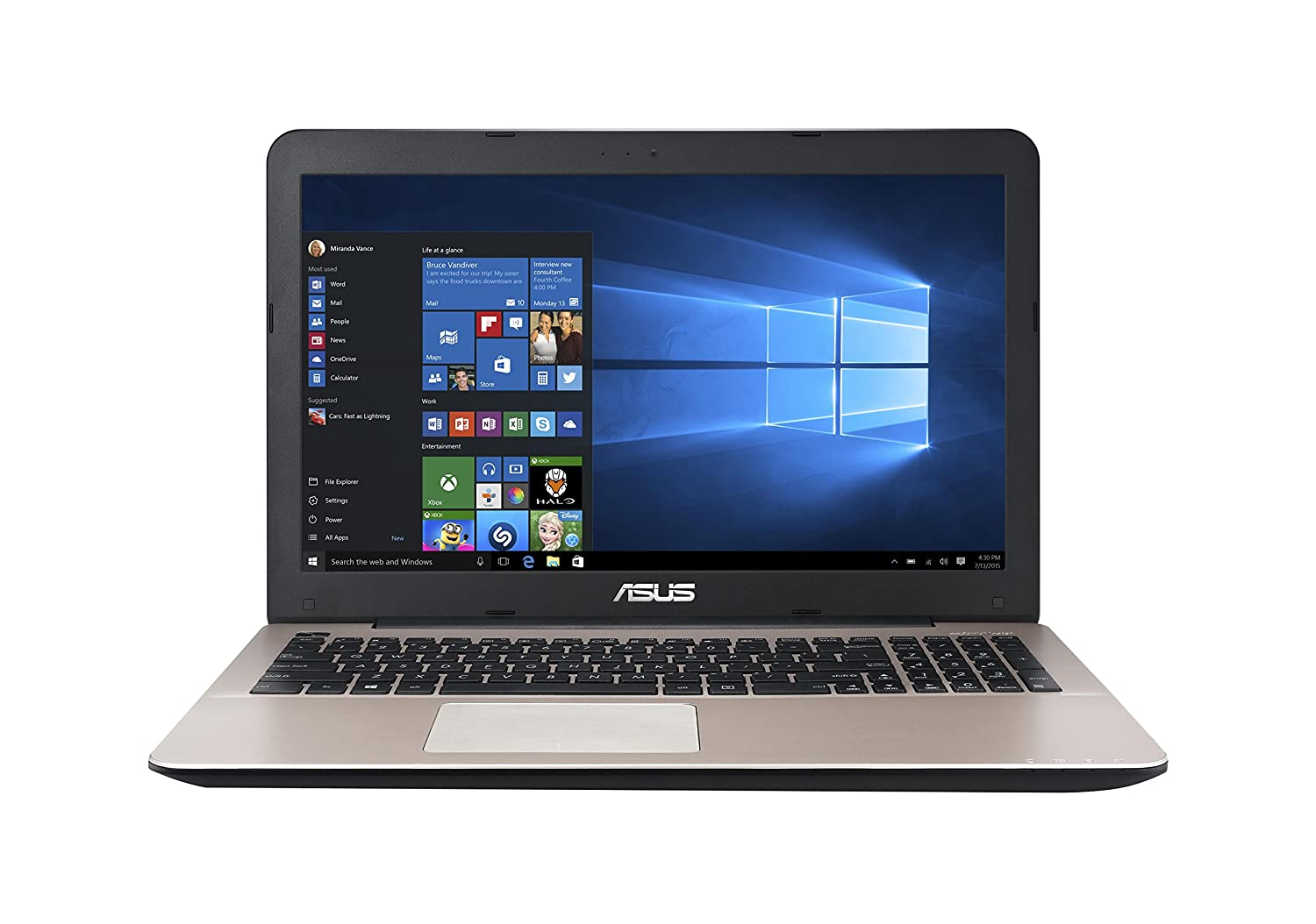Asus A555LA-XX2384T 15.6-inch Laptop (Core i3-5005U/4GB/1TB/Windows 10/Intel HD Graphics),Dark Brown-Plastic By Amazon @ Rs.29,537