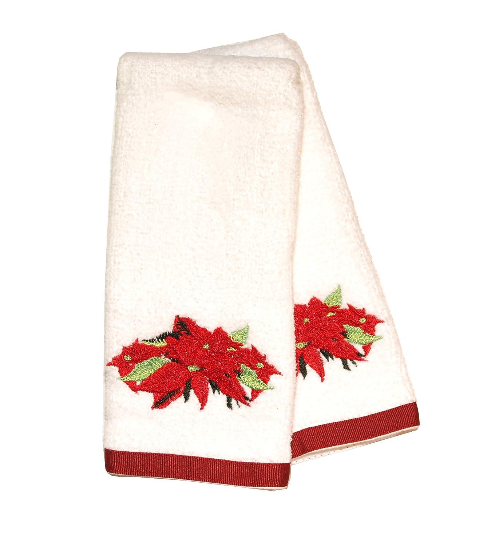 Kitchen Towels Xmas: Poinsettia Kitchen Towels