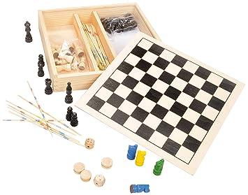 Foud'bois - 38339.0 - Malette De Jeux - Coffret Jeux Dames/échecs/dadas/mikado