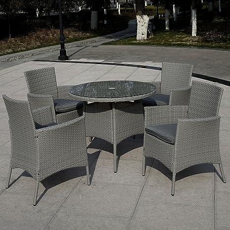 Rattan Furniture 5 PCS SET for Outdoor Backyard