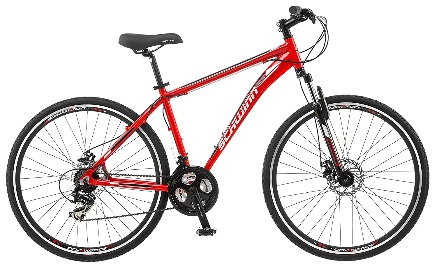 Bike Hybrid T1000 21 Spd Shogun Kent 700 Bike Inch Medium Red