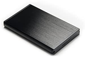 Sabrent Ultra Slim 2.5-Inch SATA to USB 2.0 External Aluminum Hard Drive Enclosure EC-UK25 (Black)