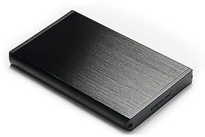 Estuche de aluminio para disco duro externo Sabrent Ultra Delgado, USB 3,0 a 2,5 pulgadas SATA  color Negro. (EC-UK30)