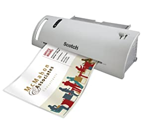 Scotch Thermal Laminator Combo Pack, Includes 20 Letter-Size Laminating Pouches, Holds Sheets up to 8.5 x 11(TL902VP) (Tamaño: Laminator with 20 Pouches)