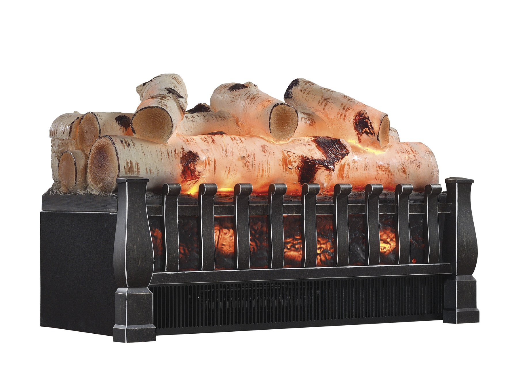 duraflame dfi021aru 05 electric log set heater with. Black Bedroom Furniture Sets. Home Design Ideas