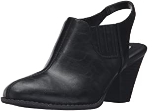 Dr. Scholl's Women's Clout Ankle Bootie, Black, 8 M US