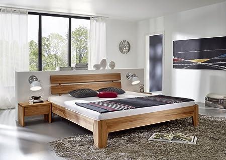SAM® Massivholzbett Ravioli Bett aus Kernbuche geölt 180 x 200 cm geteiltes Kopfteil, naturliches Design mit individueller Wuchsrichtung Lieferung zerlegt per Spedition