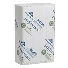 "Georgia-Pacific Preference 20389 White Multifold Paper Towel, 9.4"" Length x 9.2"" Width (Case of 16 Packs, 250 per Pack)"