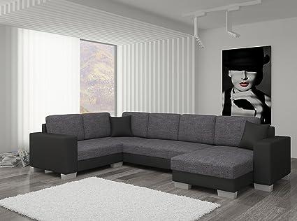 Couch Couchgarnitur Sofa Polsterecke MC 05 U Wohnlandschaft Schlaffunktion