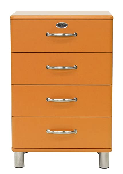 Tenzo 5116-017 Malibu - Designer Kommode 92 x 60 x 41 cm, MDF lackiert, orange