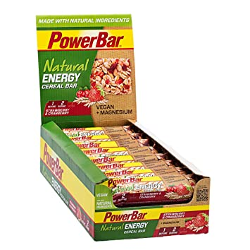PowerBar Europe Natural Energy Cereal Bar Strawberry und Cranberry 24 x 40g, 1er Pack (1 x 24 Stuck)