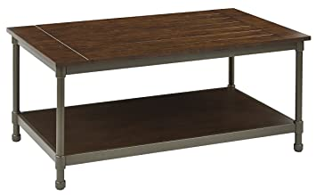 Sulivan Table with Pewter & Walnut Finish Coffee Table