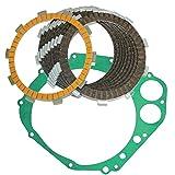 Caltric CLUTCH FRICTION PLATES & COVER GASKET Fits SUZUKI GSXR750 GSXR 750 GSX-R750 GSXR750 X 2000-2005