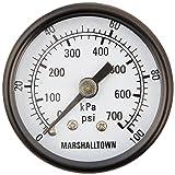 Marsh Bellofram GG151000C8 Marshalltown Value Series Gauge, 1 1/2