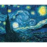 Sqailer 5D DIY Diamond Painting Full Square Drill Starry Night Rhinestone Embroidery for Wall Decoration 12X16 inches (Color: Starrynight1, Tamaño: 12X16 inches)