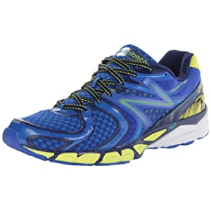 New Balance Men's M1260 Running Shoe,Blue/Yellow,9.5 D US